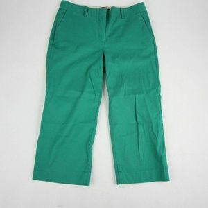 Talbots Chelsea Capri Ankle Pants Size 4P Green